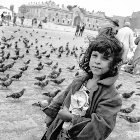 Taubenfutterverkäuferin in Istanbul